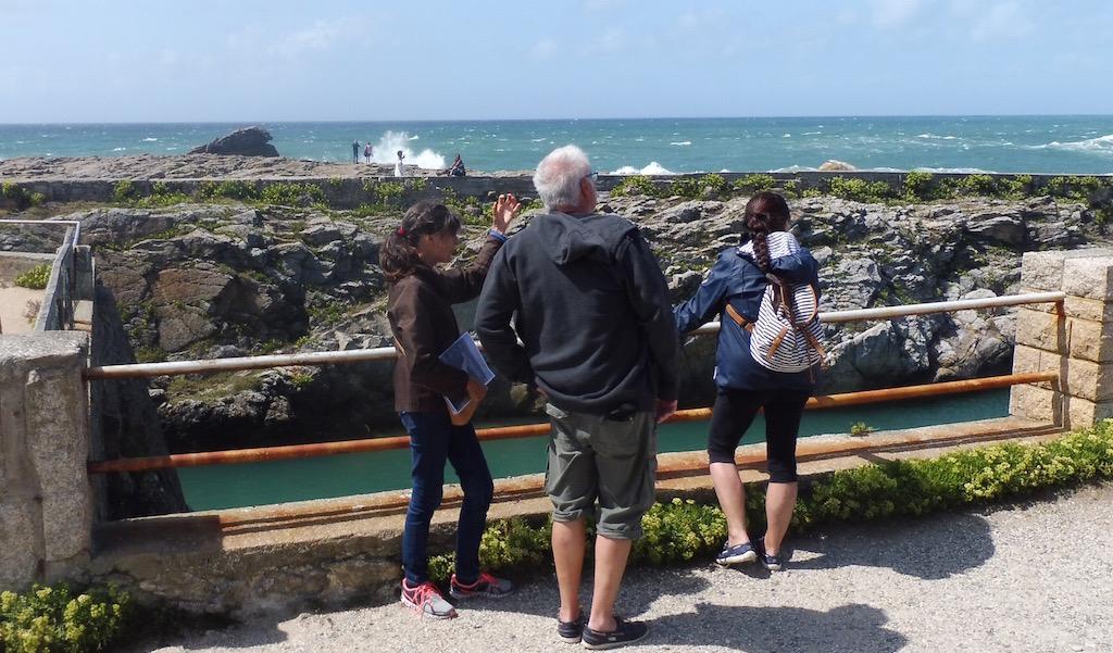 L'ancien vivier à crustacé sur la côte Sauvage de Quiberon