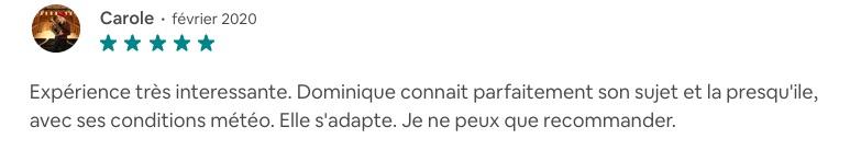 """Avis à propos de la balade """"La Côte Sauvage grandeur nature"""""""