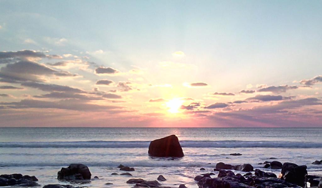 Balade Côte Sauvage au coucher de soleil